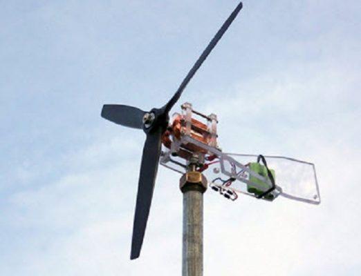 cách làm máy phát điện bằng sức gió
